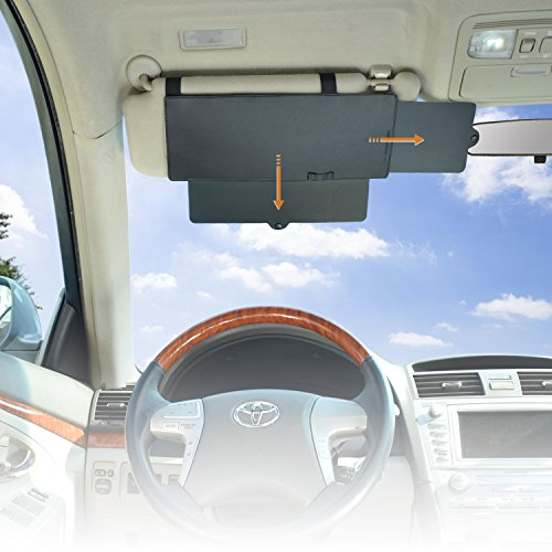 WANPOOL Car Visor Anti-glare Sunshade Extender for Front Seat Driver or Passenger - 1 Piece from WANPOOL