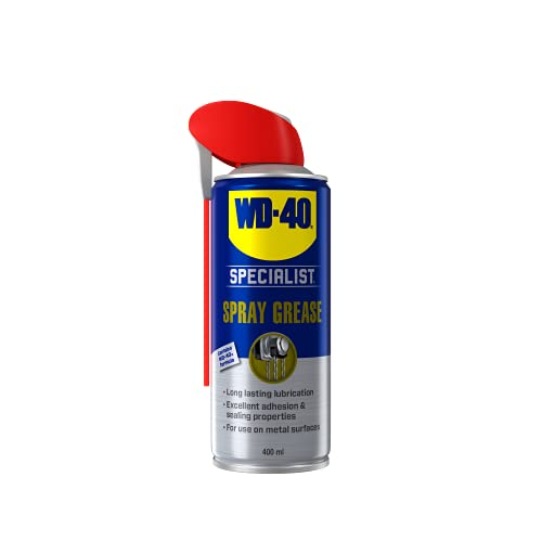 WD-40 Specialist, Long Lasting Spray Grease with Smart Straw, Non-Drip Metal Protection, 400ml from WD-40