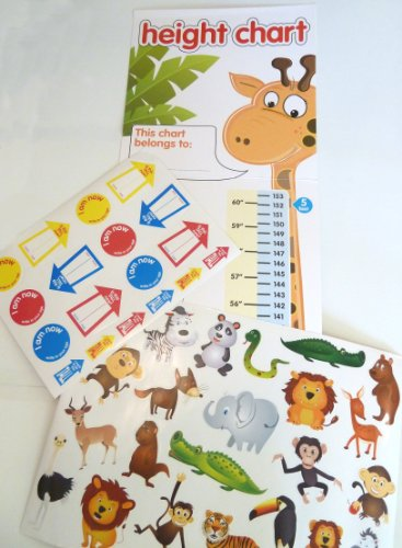 Children's Height Chart with over 40 Stickers from WDL Home  Garden  Pets & Party !