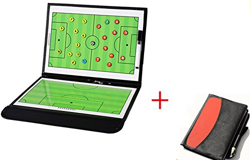 WENHAOYU Football Soccer Coach's Foldable Magnetic Tactics Strategy Board with an Erasable Write-Wipe 2 in 1 Pen from WENHAOYU