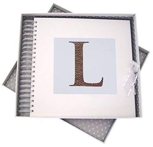 WHITE COTTON CARDS Alphabetics, Card & Memory Book, Initial L, White Board Multi-Colour, 27 x 30 x 4 cm from WHITE COTTON CARDS