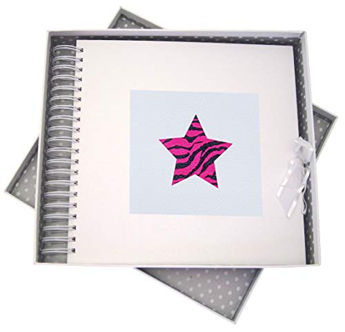 WHITE COTTON CARDS Alphabetics, Card & Memory Book, Pink Star, White Board, Various, 27 x 30 x 4 cm from WHITE COTTON CARDS