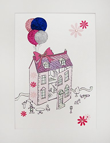 WHITE COTTON CARDS Baby & Kids Dolls House, Print, Wall Art (Code PIC15) from WHITE COTTON CARDS