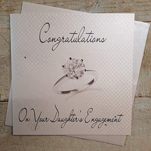 WHITE COTTON CARDS Congratulation On Your Daughter's, Handmade Engagement Card, Code WS1 from WHITE COTTON CARDS