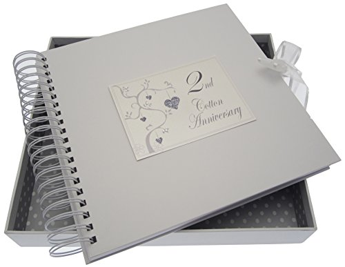WHITE COTTON CARDS, 2nd Anniversary, Card & Memory Book, Love Tree from WHITE COTTON CARDS