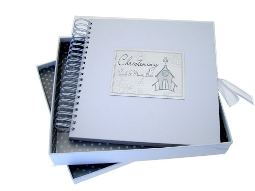 White Cotton Cards Christening Church Cards and Memory Book from WHITE COTTON CARDS