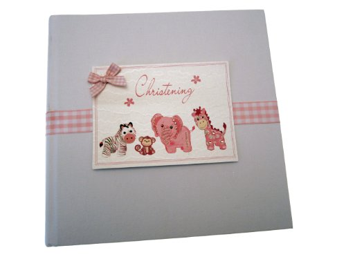 White Cotton Cards Christening Photo Album (Medium, Pink) from WHITE COTTON CARDS