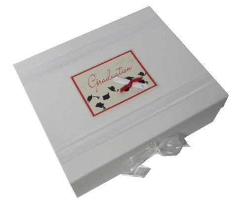 White Cotton Cards Graduation Scroll Large Keepsake Box, Code GR2X from WHITE COTTON CARDS