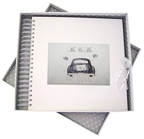 White Cotton Cards Mr & Mr Wedding Car, Card & Memory Book. (MR10) from WHITE COTTON CARDS