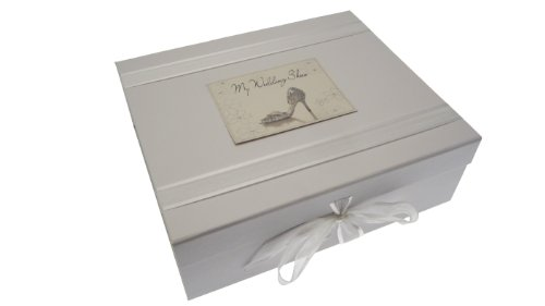 White Cotton Cards My Wedding Shoes Large Keepsake Box from WHITE COTTON CARDS