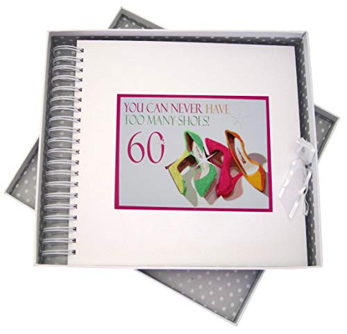 "White Cotton Cards NSH60C""You can Never Have Too Many Shoes, 60'' Birthday Card and Memory Book - Neon from WHITE COTTON CARDS"