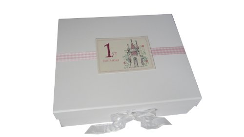 White Cotton Cards Princess Castle Age 1 Large Keepsake Box (Pink) from WHITE COTTON CARDS