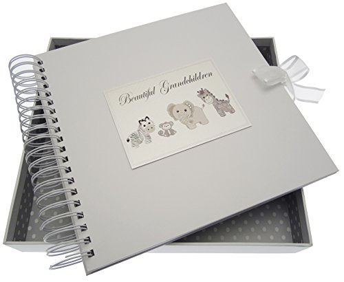 White Cotton Cards Silver Toys Beautiful Grandchildren Card and Memory Book from WHITE COTTON CARDS