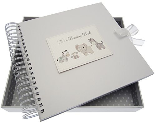 White Cotton Cards Silver Toys Nan's Boasting Card and Memory Book from WHITE COTTON CARDS