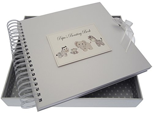 White Cotton Cards Silver Toys Papa's Boasting Card and Memory Book from WHITE COTTON CARDS