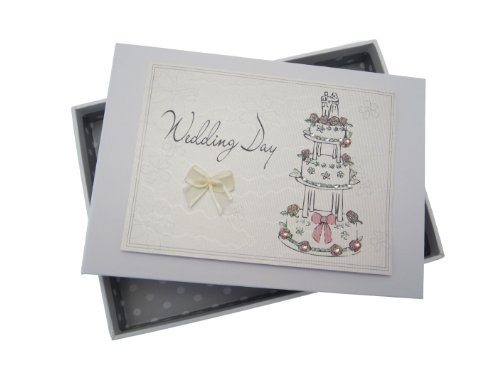 White Cotton Cards Wedding Day Tiny Album Cake Design from WHITE COTTON CARDS
