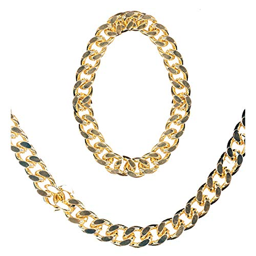 WIDMANN AC0162 Gangster Rapper (Chain Necklace + Bracelet Jewelry Set) from WIDMANN