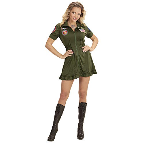 WIDMANN wdm15239 – Pilot Fighter Jet Costume, Green, Small from WIDMANN