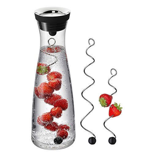 WMF Basic Water Decanter and 2 Fruit Skewers, Transparent, 3-Piece from WMF