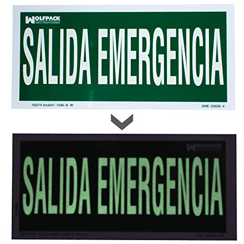 Wolfpack Emergency Exit Sign [May not be in English] 15 x 30 cm from WOLFPACK