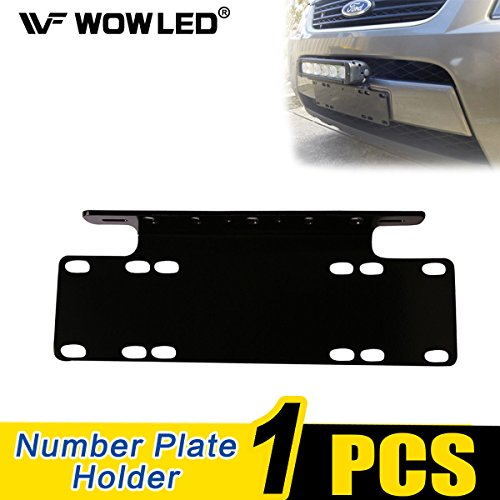 WOWLED Universal License Number Plate Frame Mounting Bracket Holder for Offroad Driving LED Light Bar and Work Lamps Black, Truck 4X4 from WOWLED
