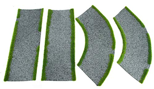 War World Gaming Road Straight and Curved Sections - 28mm Wargaming Scenery Terrain Model Diorama from War World Gaming
