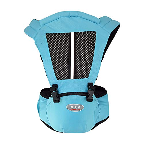 WWSUNNY Soft Cotton Ergonomic Baby Carrier Adjustable Front and Back Carrier Pouch Bag Wrap Soft Structured Ergonomic Infant Sling(Light Blue) from WWSUNNY