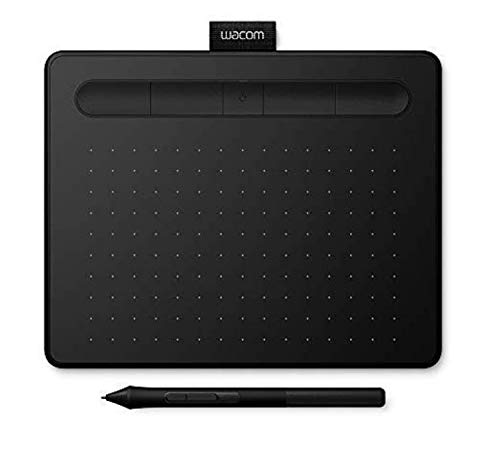 Wacom Intuos Pen Tablet in Black (Size: S) / Incl. Wacom Intuos Stylus & Bluetooth connectivity / Compatible with Windows & Apple from Wacom