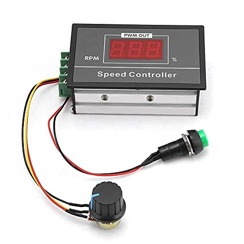 DC 6-60V 12V 24V 36V 48V 30A PWM DC Motor Speed Controller (PWM) Speed Adjustable Stepless Governor Regulator, Motor Speed Controller with Start Stop Switch from Walfront