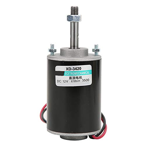 Mini 12V/24V CW/CCW Permanent Magnet DC Motor Reversible Electric Gear Motor High Speed Low Noise for DIY Generator(DC 12V 3000RPM) from Walfront