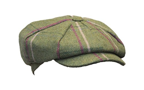 Walker & Hawkes - Ladies Tweed Bakerboy Style Country Cap - Pink Stripes - XS (56cm) from Walker and Hawkes