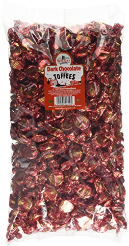 Dark Chocolate - Walkers Toffees Loose Individually Wrapped Sweets Bulk Buy Wholesale Bag 2.5kg from Walkers