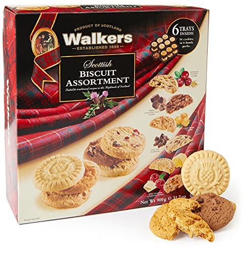 Walkers All Butter Shortbread, Scottish Biscuit Assortment 900g from Walker's