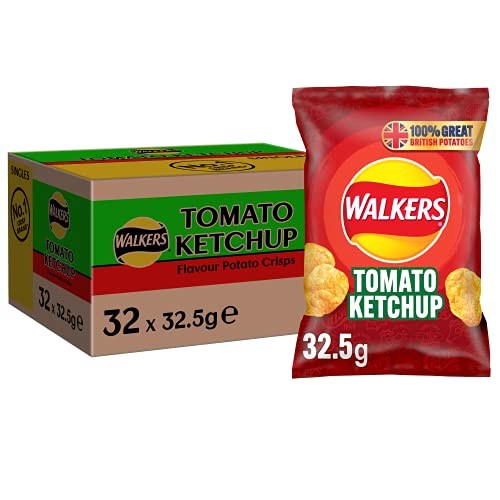 Walkers Tomato Ketchup Crisps 32.5 g (Pack of 32) from Walkers