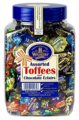 WALKERS NONSUCH Assorted Toffees and Chocolate Eclairs Jars 1.25 kg from Walkers Nonsuch