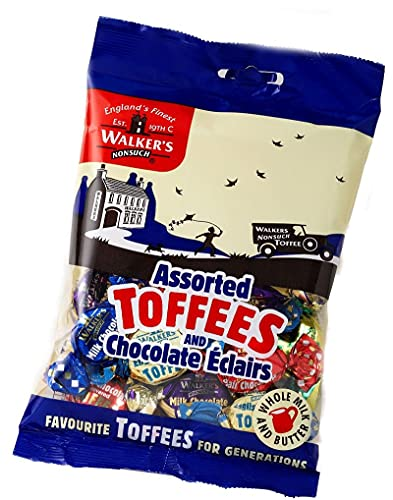 Walkers Nonsuch Assorted Toffees and Chocolate Éclairs (150g x 6) from Walkers
