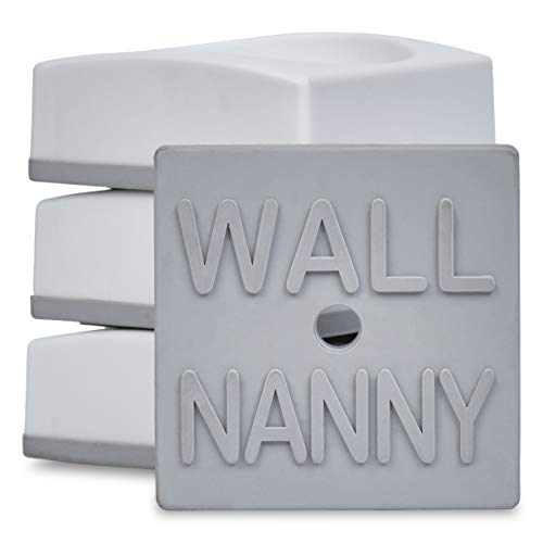 Wall Nanny Mini - Baby Gate Wall Protector (4 Pack) for Dog & Pet Gates - Small Low-Profile Saver - Perfect in Doorways - Cups Protect & Guard Walls from Kid Child Safety Pressure Gates - White from Wall Nanny