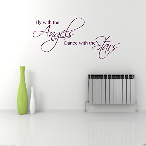 ANGELS DANCE STARS Wall Art Sticker Lounge Quote Decal Mural Stencil Transfer WSD392 from Wall Smart Designs