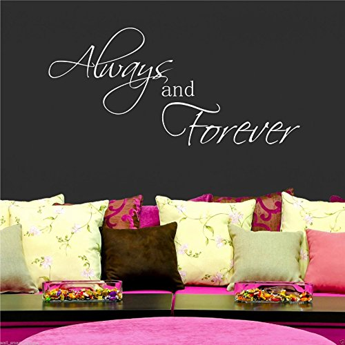 Always Forever Wall Art Sticker Quote Room Decal Mural Stencil Transfer Graphic WSD371 from Wall Smart Designs