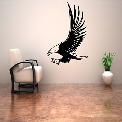 BALD EAGLE BIRD AMERICAN EMBLEM WALL ART STICKER DECAL MURAL STENCIL VINYL PRINT WSD710 from Wall Smart Designs