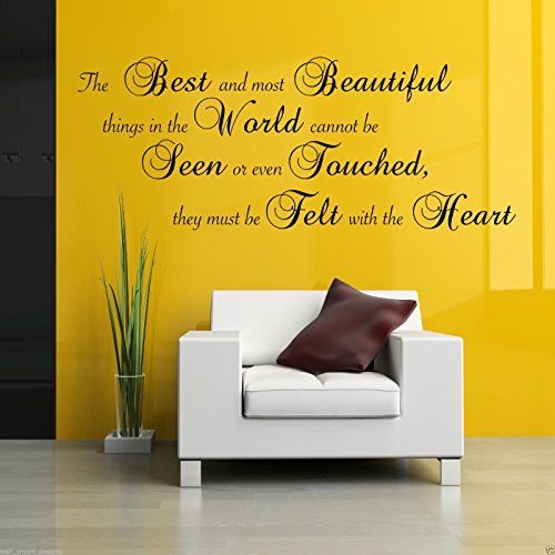 BEST AND MOST BEAUTIFUL Wall Art Sticker Lounge Quote Decal Mural Transfer WSD658 from Wall Smart Designs