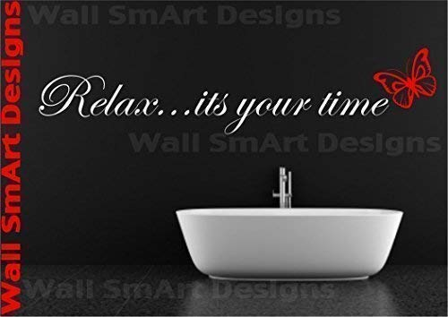 Bathroom Relax Vinyl Wall Sticker Decal Mural Bathroom Bedroom Kitchen from Wall Smart Designs