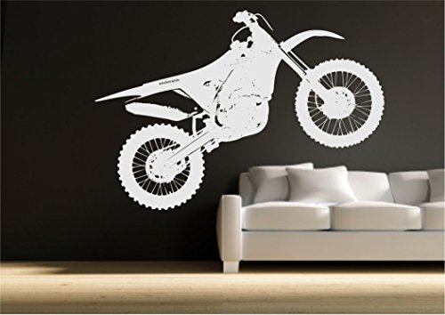 Crosser Motocross Bike Wall Sticker Bedroom Stencil Transfer Art Decal Mural from Wall Smart Designs