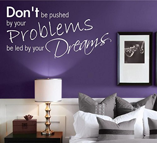 Dreams Problems Bedroom Room Wall Art Quotes Stickers Murals Decals transfers WSD475 from Wall Smart Designs
