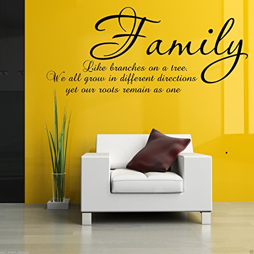 FAMILY BRANCHES ON A TREE Wall Art Sticker Lounge Quote Decal Mural Transfer WSD511 from Wall Smart Designs