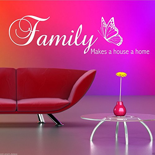 FAMILY HOME HOUSE Wall Quote Sticker Vinyl Art Decal Transfer Mural Stencil DecoR WSD477 from Wall Smart Designs