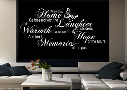 Family Home Memories Room Wall Art Sticker Quote Decal Mural Stencil Transfer WSD491 from Wall Smart Designs