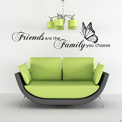 Family Love Friends Butterfly Wall Art Sticker Quote Decal Stencil Transfer WSD490 from Wall Smart Designs
