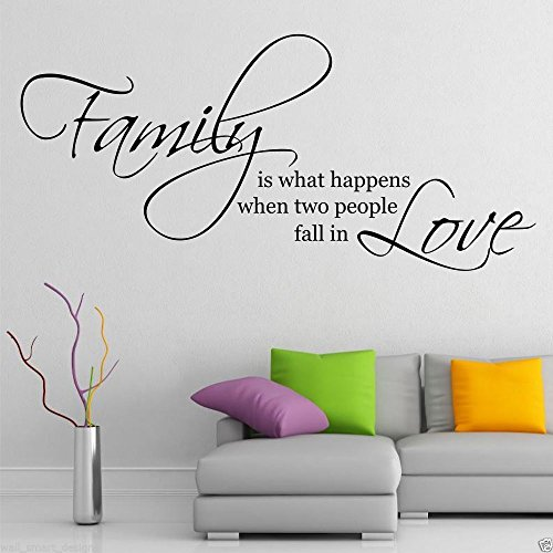 Family Love Wall Art Sticker Quote Living Room Decal Mural Stencil Transfer WSD424 from Wall Smart Designs