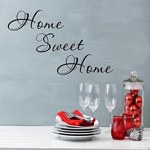 HOME SWEET HOME Wall Art Sticker Lounge Hall Quote Decal Mural Transfer Sticker from Wall Smart Designs